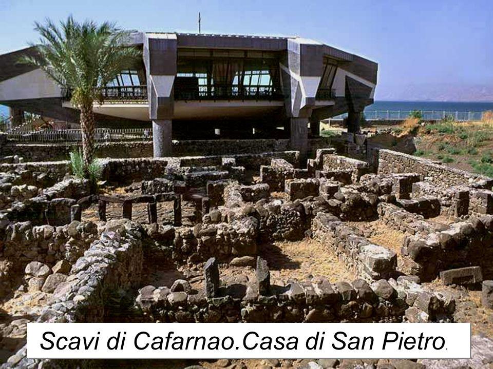 Scavi di Cafarnao.Casa di San Pietro.