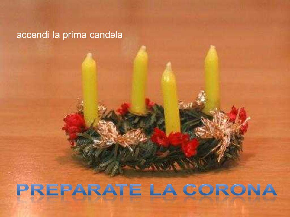 accendi la prima candela