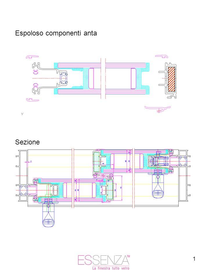 1 Espoloso componenti anta Sezione