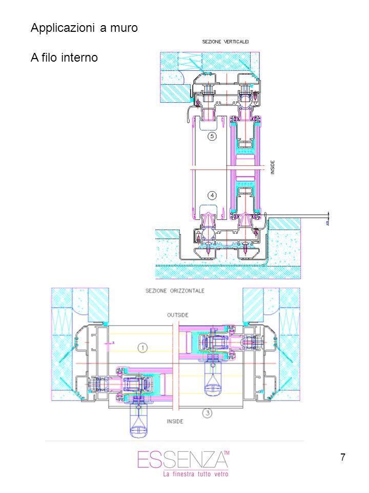 7 Applicazioni a muro A filo interno
