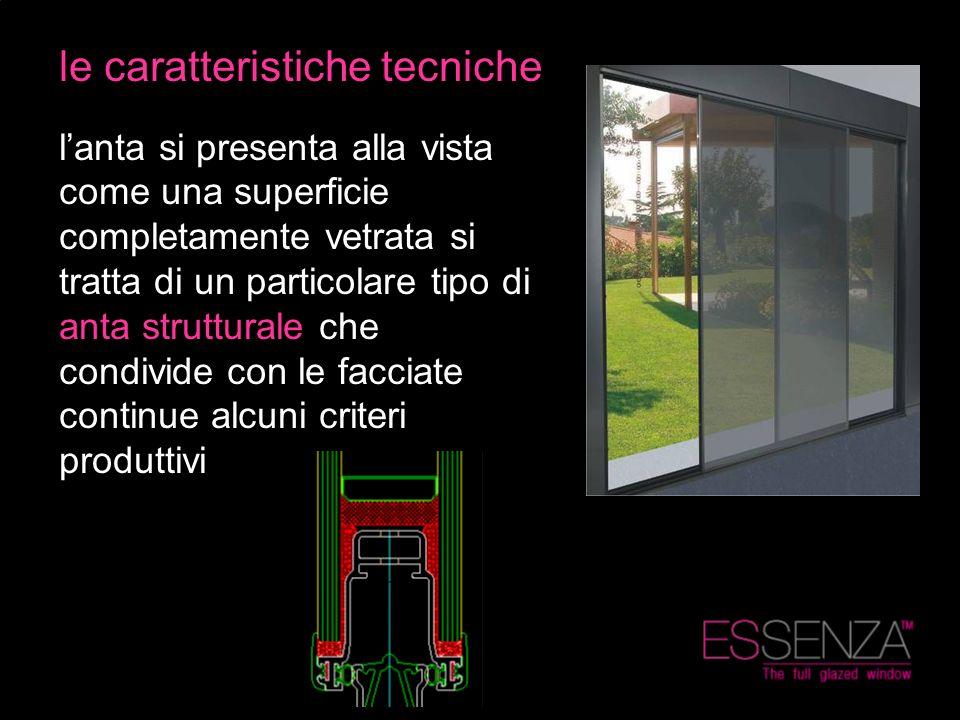le caratteristiche tecniche lanta si presenta alla vista come una superficie completamente vetrata si tratta di un particolare tipo di anta struttural