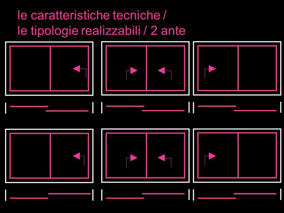 le caratteristiche tecniche / le tipologie realizzabili / 2 ante