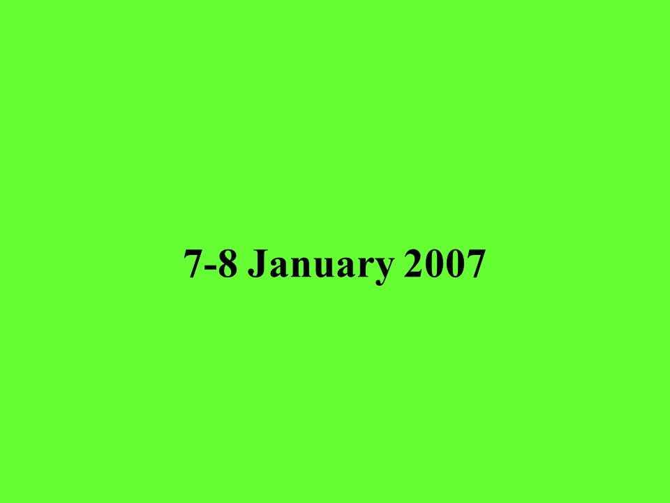 7-8 January 2007