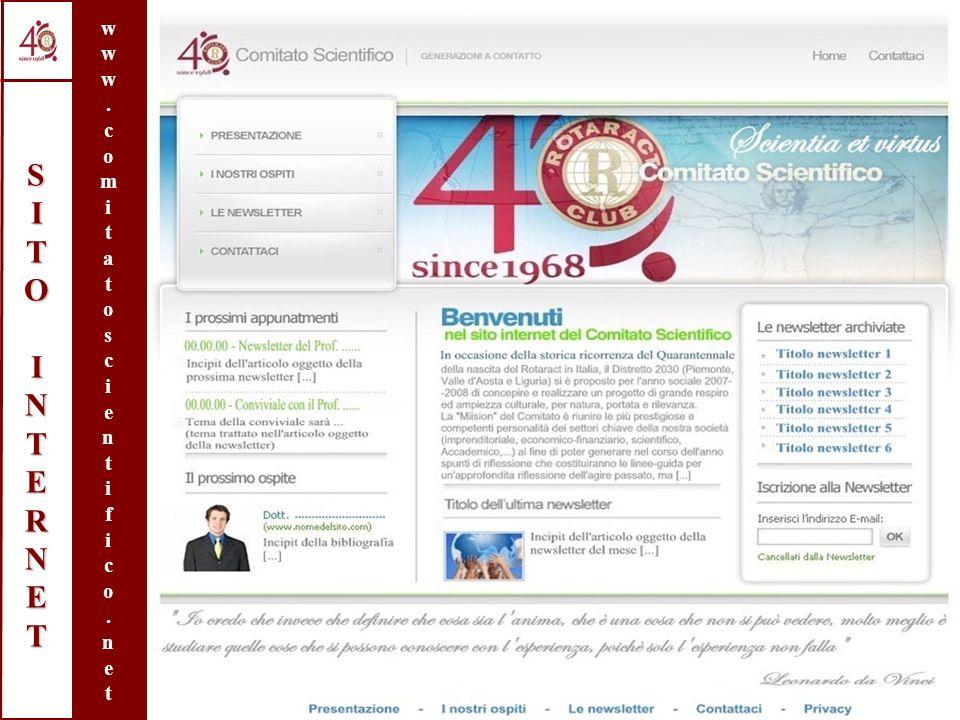 Distretto Rotaract 2030° - Italia, Anno 2007-2008 SITOINTERNETSITOINTERNETSITOINTERNETSITOINTERNET www.comitatoscientifico.netwww.comitatoscientifico.