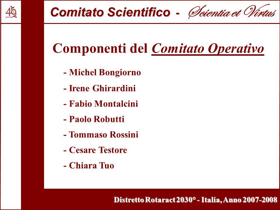 Distretto Rotaract 2030° - Italia, Anno 2007-2008 Comitato Scientifico - Comitato Scientifico - Scientia et Virtus Componenti del Comitato Operativo -