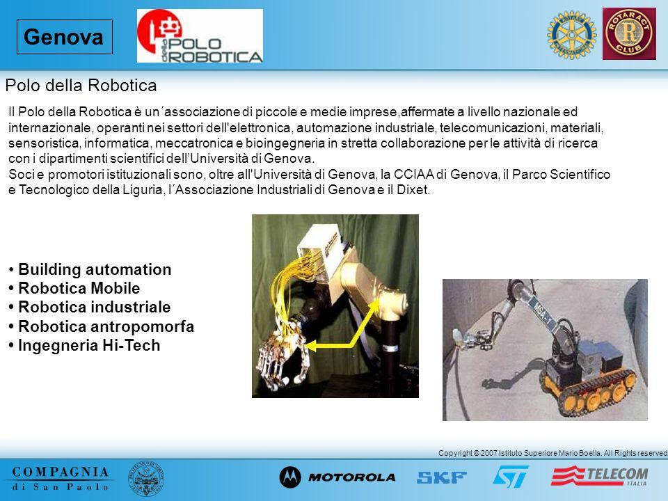 Copyright © 2007 Istituto Superiore Mario Boella. All Rights reserved. Genova Il Polo della Robotica è un´associazione di piccole e medie imprese,affe