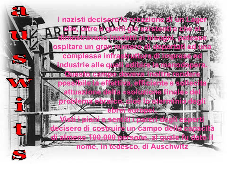 I nazisti decisero la creazione di un Lager che, oltre a quelli già esistenti e che si dimostravano inadatti ai bisogni, potesse ospitare un gran nume