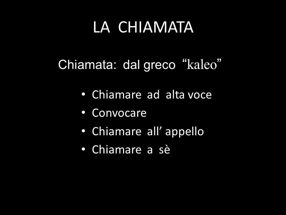 LA CHIAMATA Chiamare ad alta voce Convocare Chiamare all appello Chiamare a sè Chiamata: dal grecokaleo