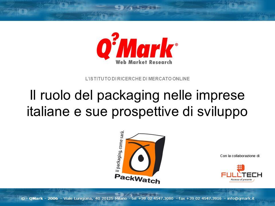 © - QMark - 2006 – Viale Lunigiana, 40 20125 Milano - tel +39 02 4547.3080 - fax +39 02 4547.3916 – info@qmark.it LISTITUTO DI RICERCHE DI MERCATO ONL