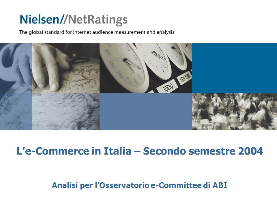 12 Copyright Nielsen//NetRatings Le-payment in Italia 92.6% 100% 15,2 milioni 1,1 milione Acquirenti online 7.4% Visitatori Acquistano online e pagano offline: 30.1% Acquistano e pagano online: 86.0% Acquistano e pagano online e offline: 16.1% L86% degli acquirenti online ha pagato con carta di credito Panel: Casa e Ufficio – Secondo semestre 2004Fonte: Audiweb by Nielsen//NetRatings Sales Convertion Rate: 7.4% Siti di pagamento* * Include siti dei merchant, siti di travel (compagnie aeree, ferroviarie, di crociera, agenzie di viaggi), di assicurazioni, di libri e biglietteria eventi Il SCR cresce di 0.7 p.p.