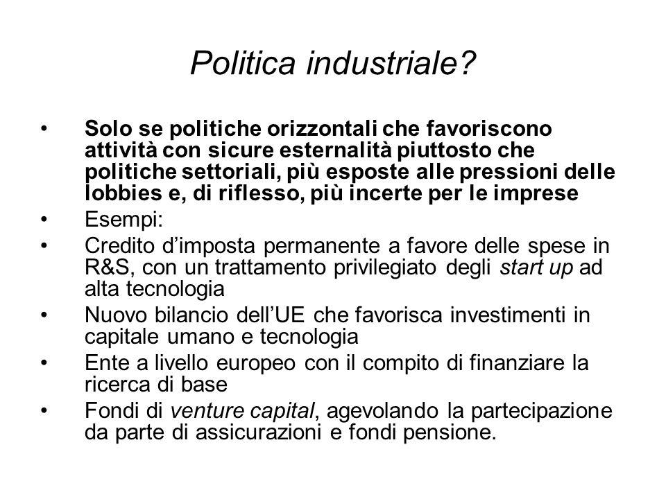 Politica industriale.