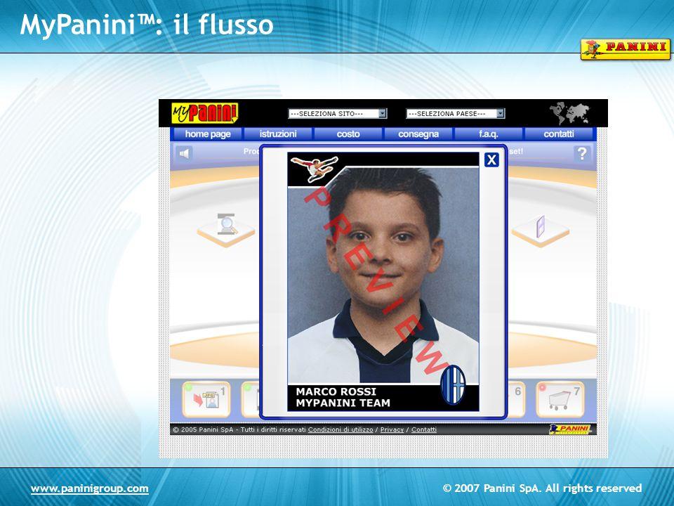 © 2007 Panini SpA. All rights reservedwww.paninigroup.com MyPanini: il flusso