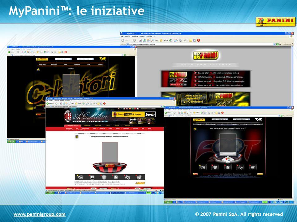© 2007 Panini SpA. All rights reservedwww.paninigroup.com MyPanini: le iniziative