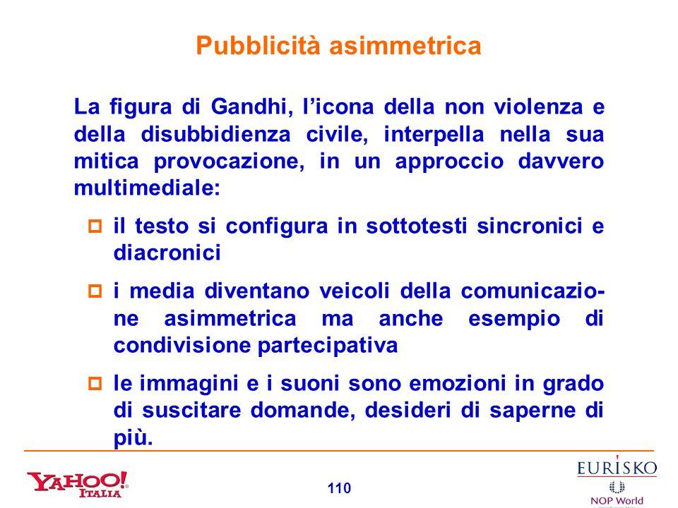 109 Pubblicità aperta Levento Gandhi di Telecom Italia è un esempio straordinario di comunicazione aperta: traguarda gli steccati di genere e di targe