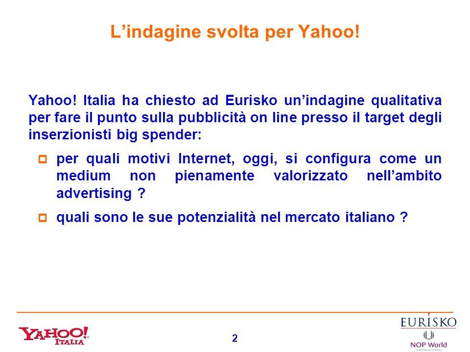 1 LA COMUNICAZIONE PUBBLICITARIA SU INTERNET: GLI ORIENTAMENTI DEGLI INVESTITORI (EURISKO - Edmondo Lucchi)