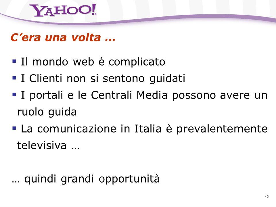 Yahoo! Italia La sfida delle risposte, lopportunità delle idee La comunicazione pubblicitaria su Internet