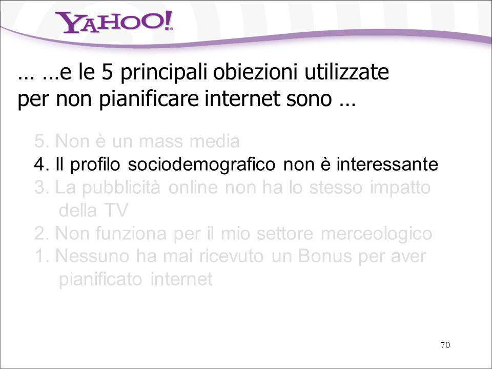 69 8 milioni di italiani usano Virgilio ogni mese, più di quanti leggano Sorrisi e Canzoni e Focus Sources: Nielsen/NetRatings, AudiWeb, AudiTel, Audi