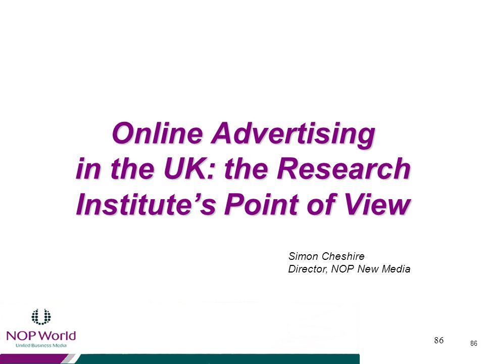 85 Conclusioni Gli utenti di internet sono molti e continuano a crescere Gli utenti internet sono un audience molto interessante Ladvertising online c