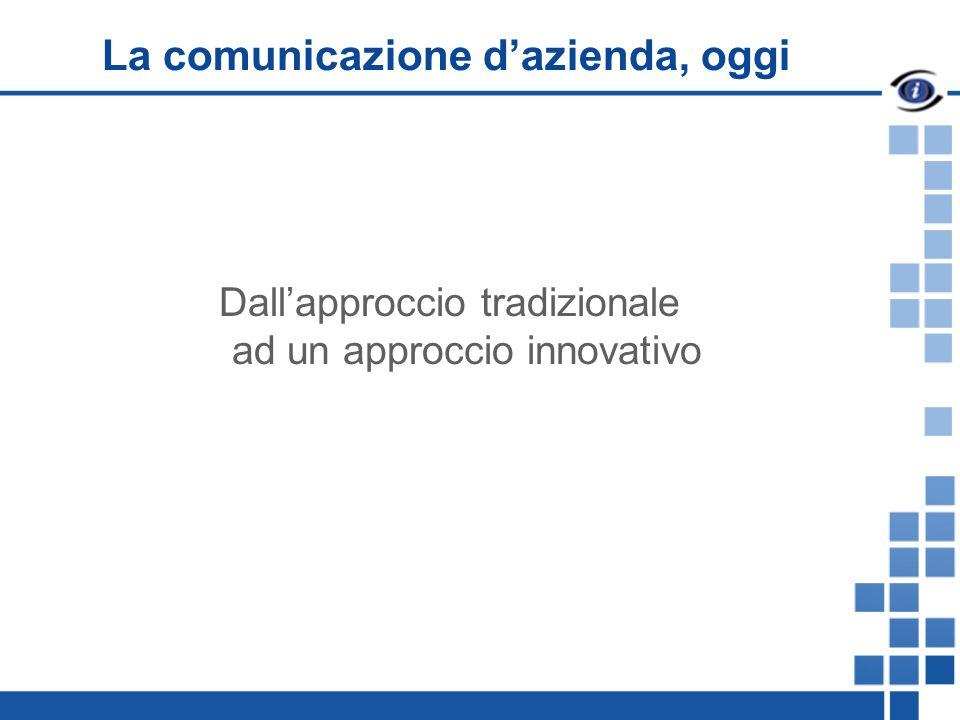 La comunicazione dazienda, oggi Dallapproccio tradizionale ad un approccio innovativo