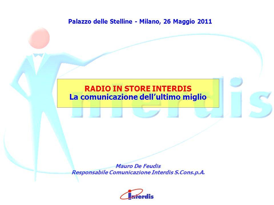 Palazzo delle Stelline - Milano, 26 Maggio 2011 RADIO IN STORE INTERDIS La comunicazione dell ultimo miglio Mauro De Feudis Responsabile Comunicazione Interdis S.Cons.p.A.