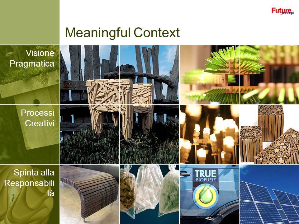 Meaningful Context Visione Pragmatica Processi Creativi Spinta alla Responsabili tà