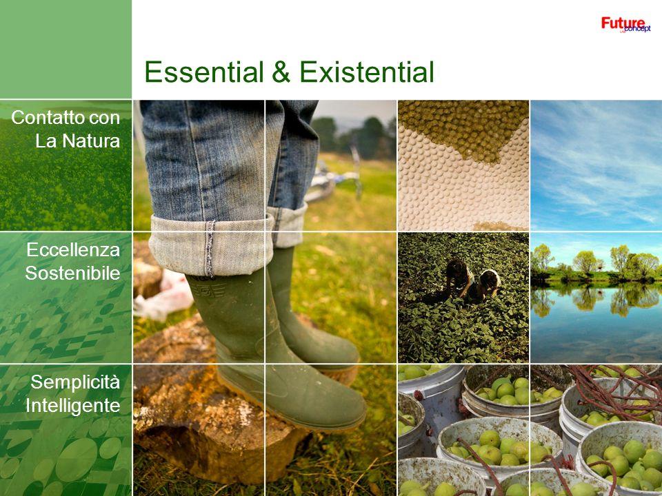 Essential & Existential Contatto con La Natura Eccellenza Sostenibile Semplicità Intelligente
