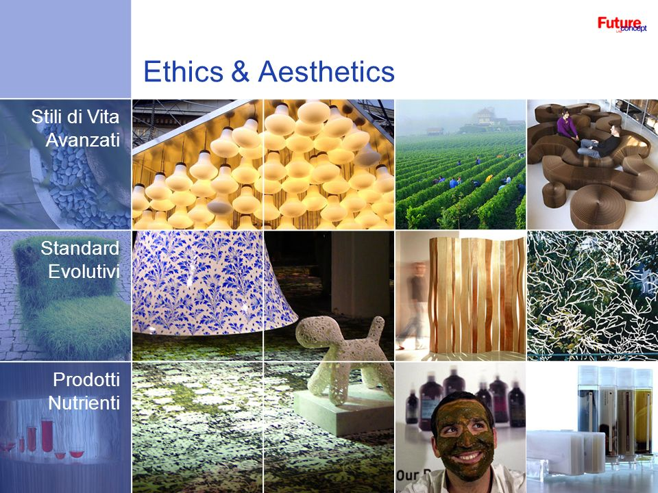 Ethics & Aesthetics Stili di Vita Avanzati Standard Evolutivi Prodotti Nutrienti