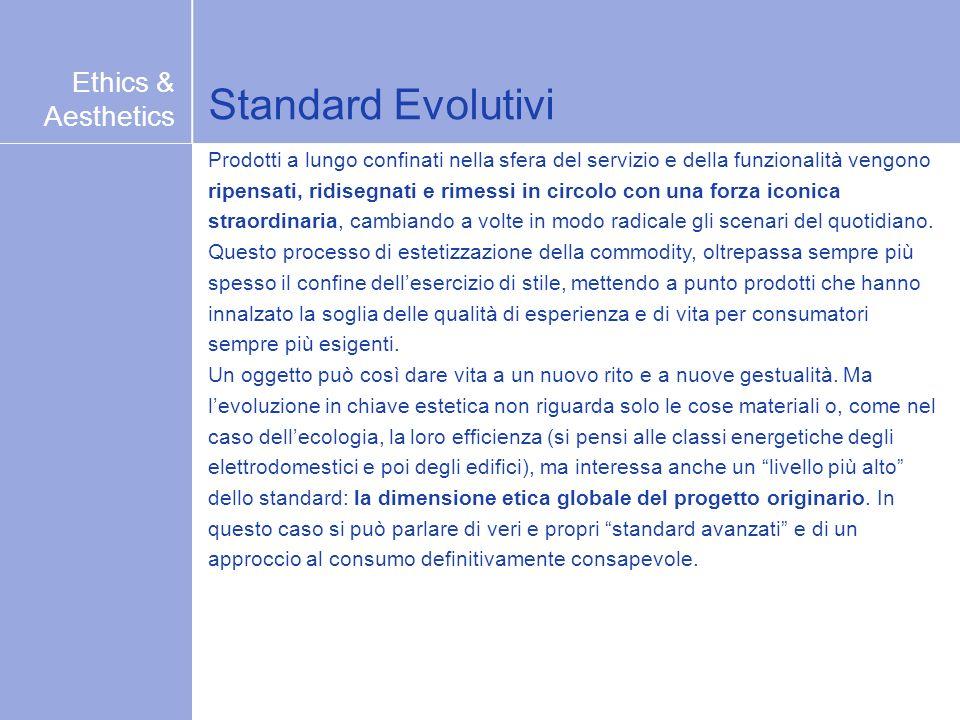 Standard Evolutivi Prodotti a lungo confinati nella sfera del servizio e della funzionalità vengono ripensati, ridisegnati e rimessi in circolo con un