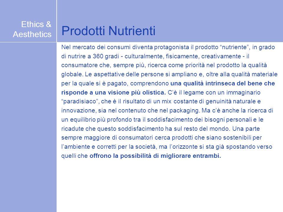 Prodotti Nutrienti Nel mercato dei consumi diventa protagonista il prodotto nutriente, in grado di nutrire a 360 gradi - culturalmente, fisicamente, c