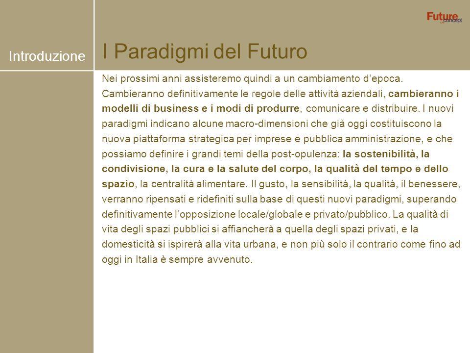 I Paradigmi del Futuro Nei prossimi anni assisteremo quindi a un cambiamento depoca. Cambieranno definitivamente le regole delle attività aziendali, c