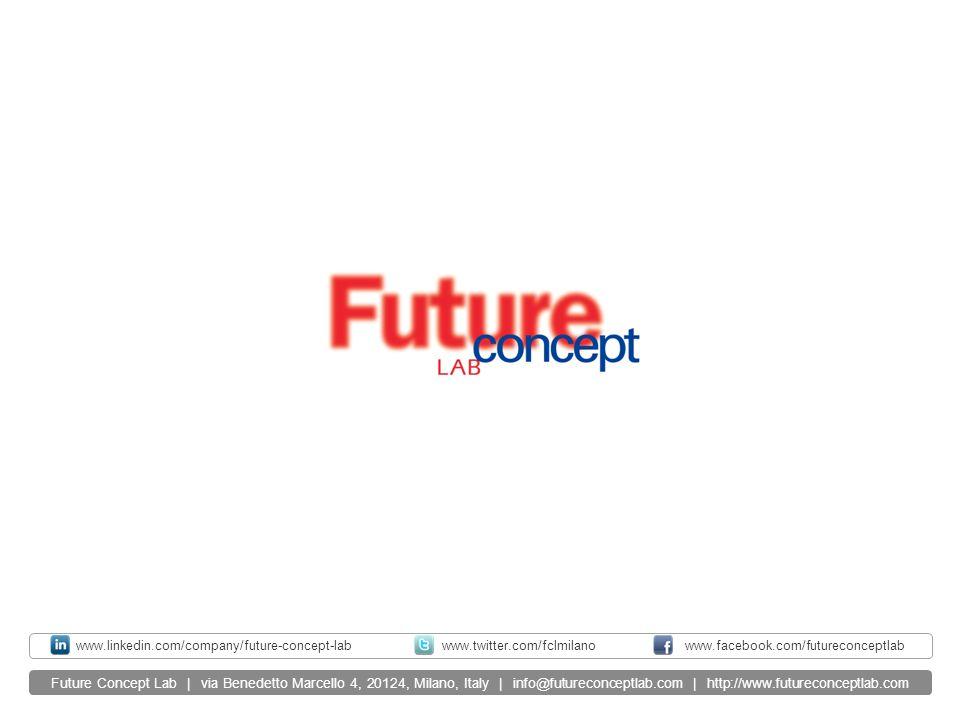 Future Concept Lab | via Benedetto Marcello 4, 20124, Milano, Italy | info@futureconceptlab.com | http://www.futureconceptlab.com www.twitter.com/fclm