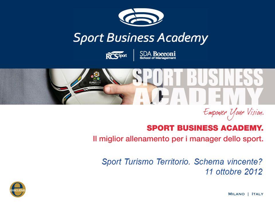 Sport Turismo Territorio. Schema vincente? 11 ottobre 2012