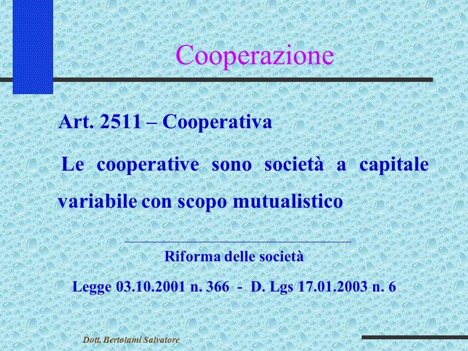 Cooperazione Quote di partecipazione (art.
