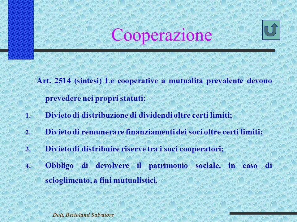 Cooperazione Art.
