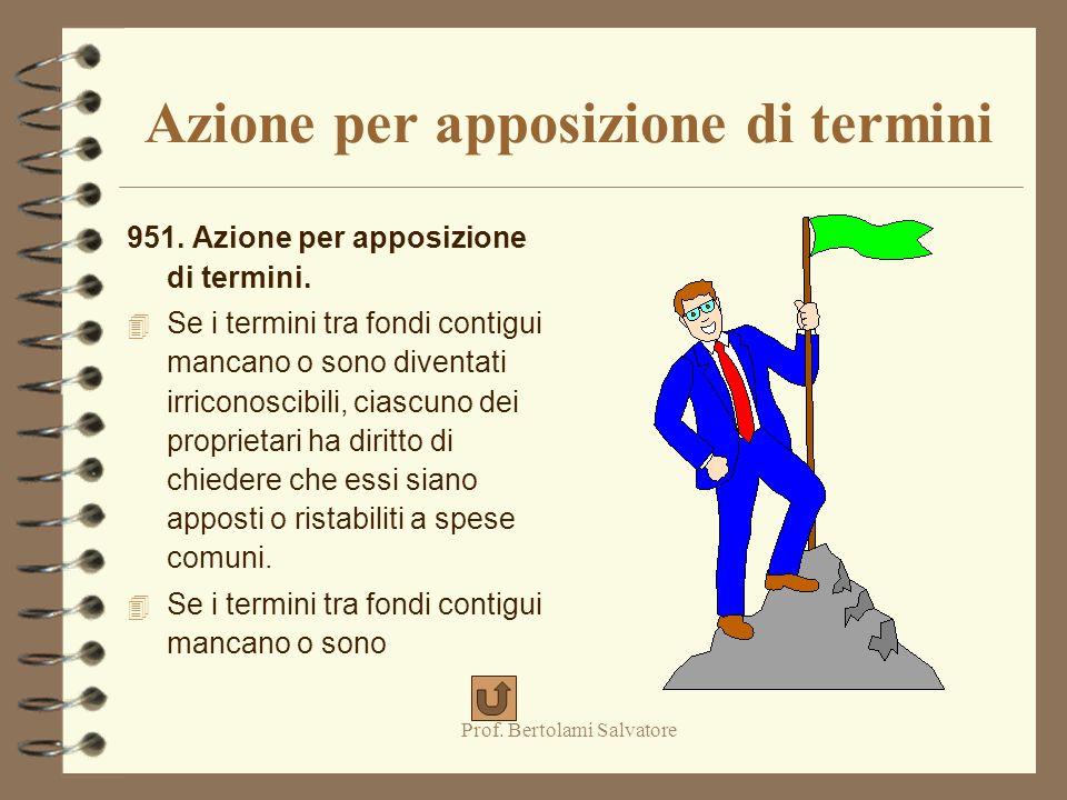 Prof.Bertolami Salvatore Azione per apposizione di termini 951.