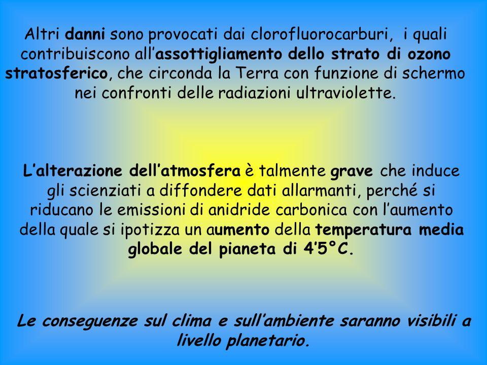 I problemi dellinquinamento atmosferico Senza latmosfera non esisterebbe la vita sulla Terra così come latmosfera non sarebbe così comè se non ci fossero gli esseri viventi.
