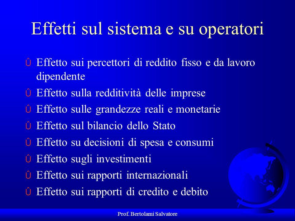 Prof. Bertolami Salvatore Tipologie