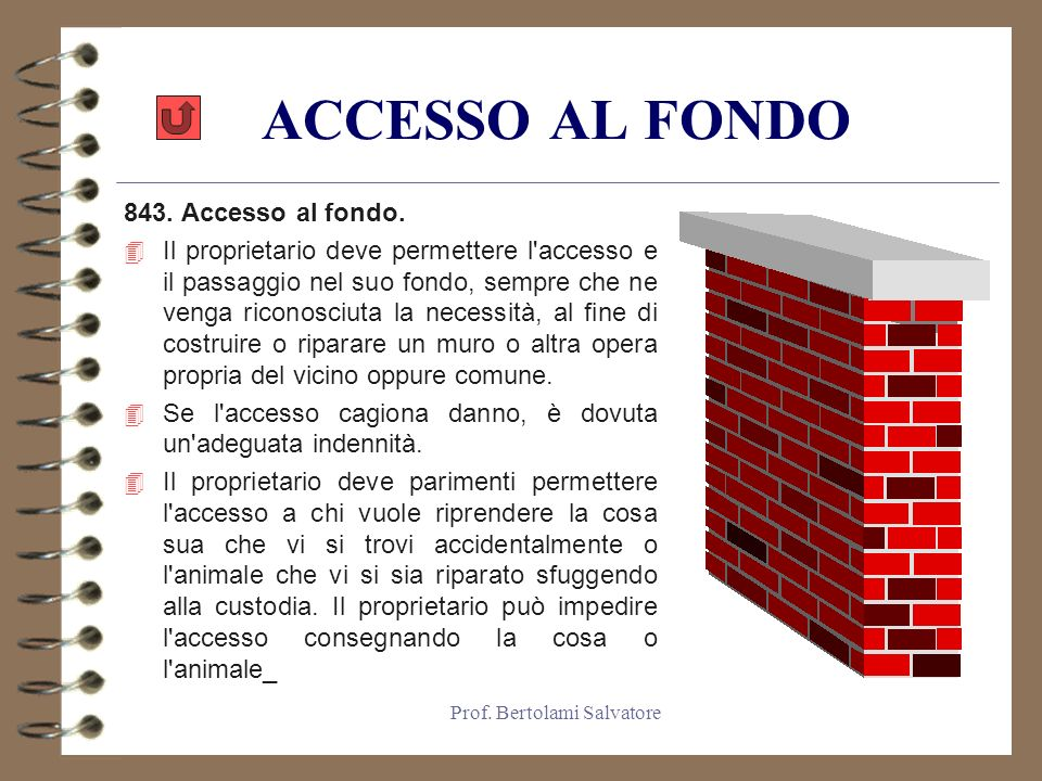 Prof.Bertolami Salvatore ACCESSO AL FONDO 843. Accesso al fondo.