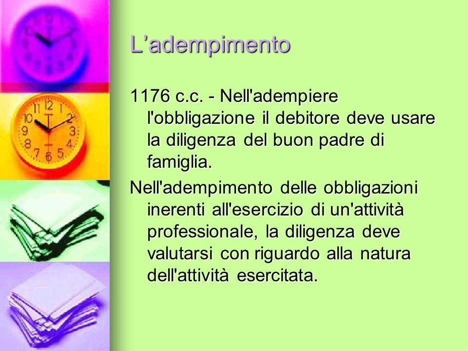 Ladempimento 1176 c.c.