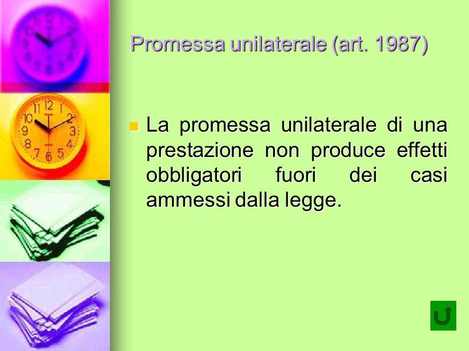Promessa unilaterale (art.