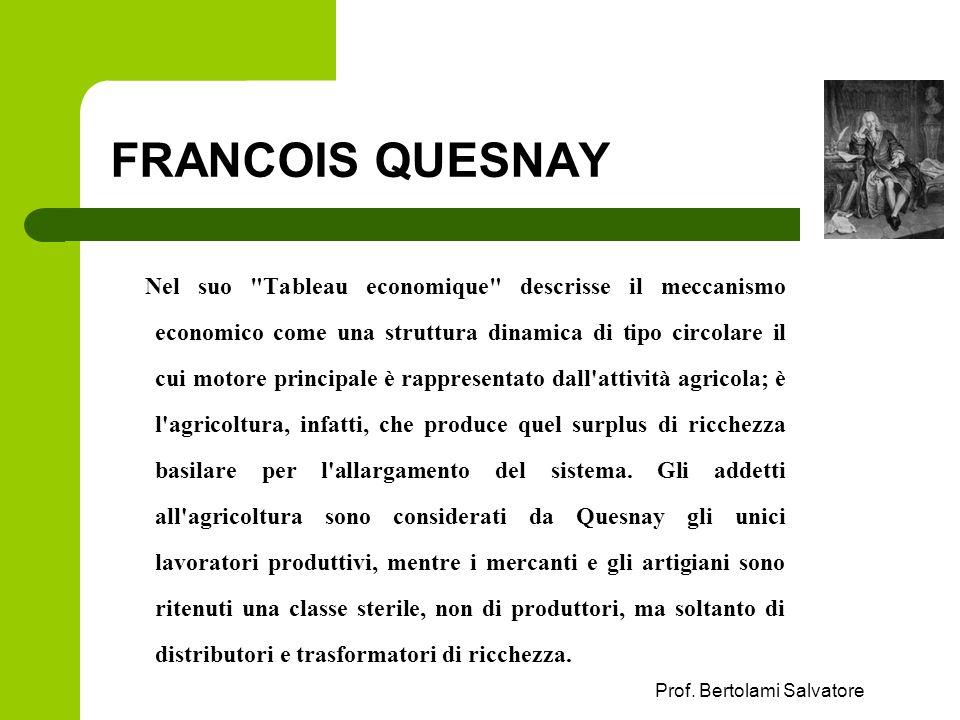 Prof. Bertolami Salvatore FRANCOIS QUESNAY Nel suo