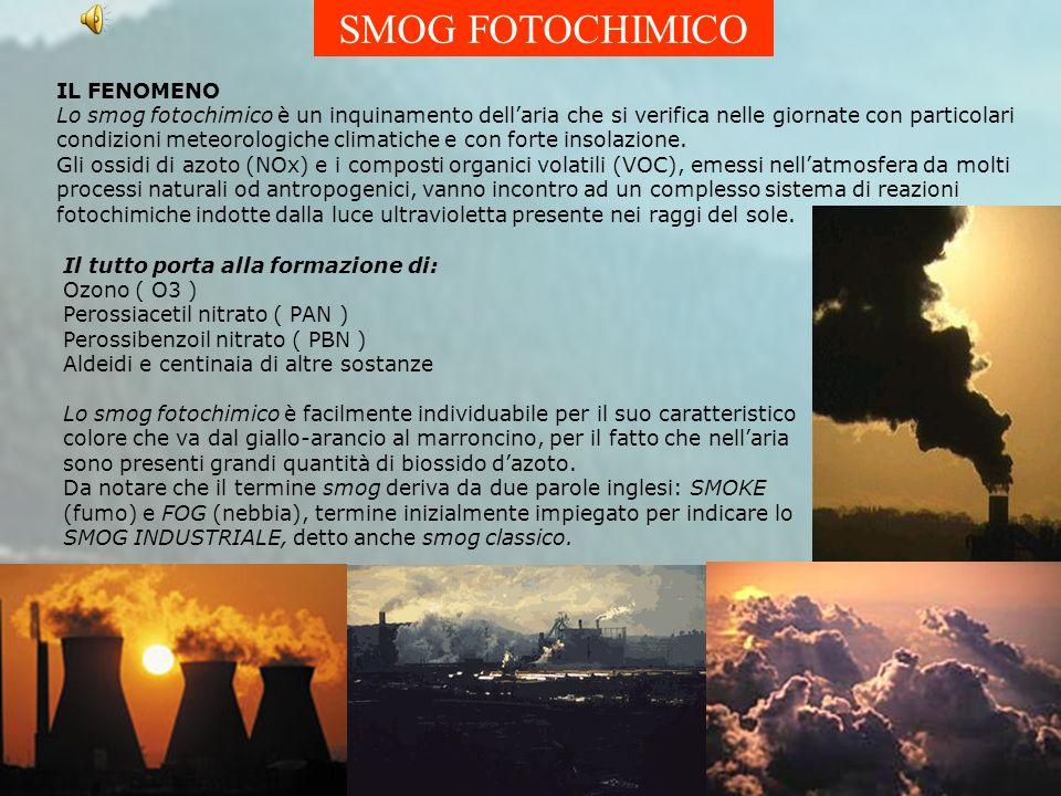 SMOG FOTOCHIMICO IL FENOMENO Lo smog fotochimico è un inquinamento dellaria che si verifica nelle giornate con particolari condizioni meteorologiche climatiche e con forte insolazione.