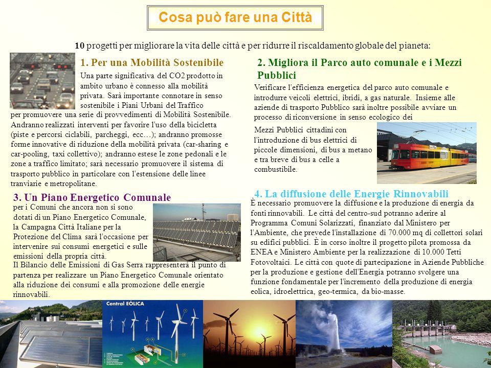 10 progetti per migliorare la vita delle città e per ridurre il riscaldamento globale del pianeta: Cosa può fare una Città 1. Per una Mobilità Sosteni