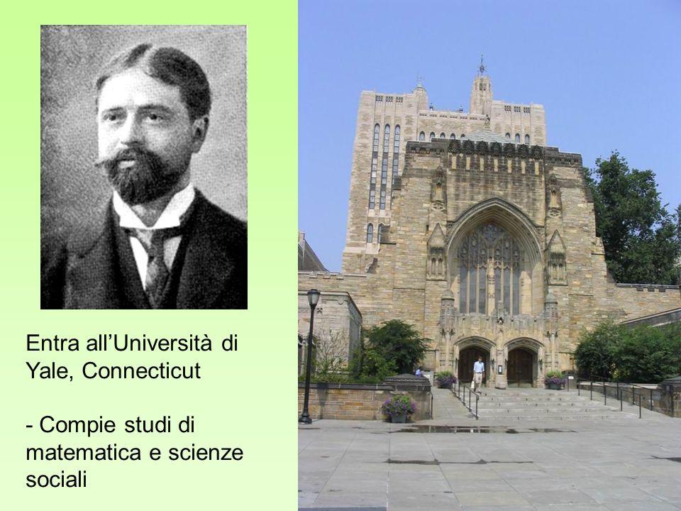 Entra allUniversità di Yale, Connecticut - Compie studi di matematica e scienze sociali