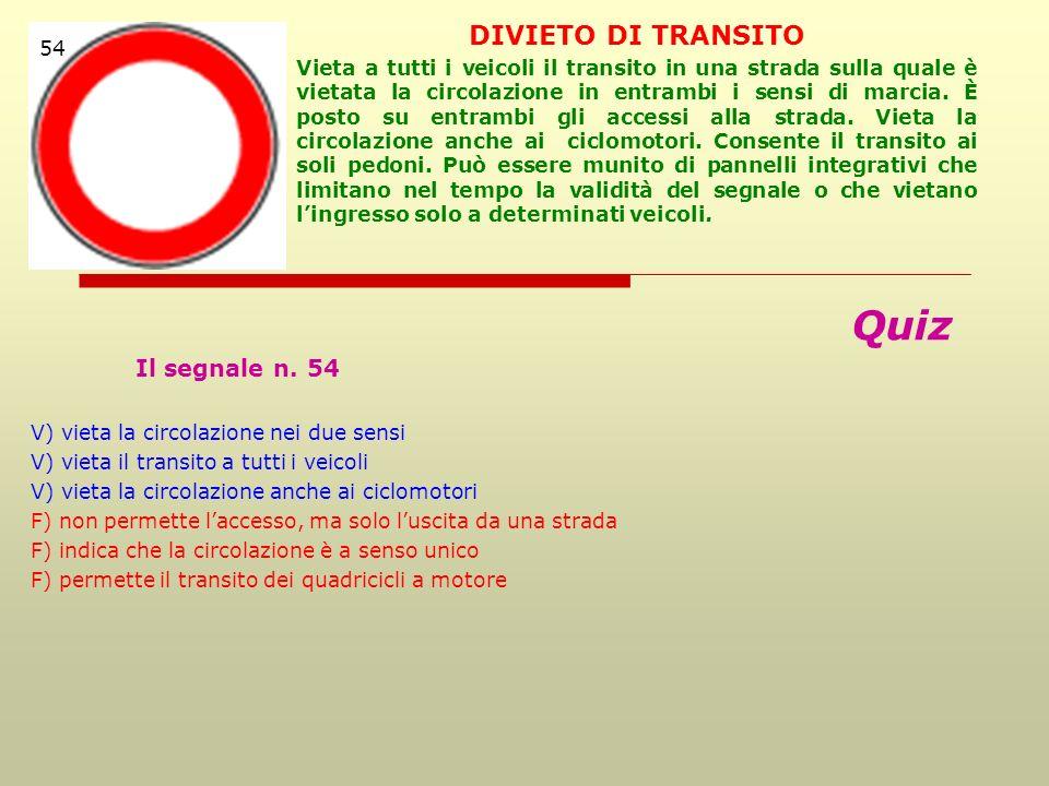 Quiz Il segnale n.