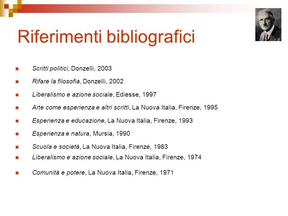 Riferimenti bibliografici Scritti politici, Donzelli, 2003 Rifare la filosofia, Donzelli, 2002 Liberalismo e azione sociale, Ediesse, 1997 Arte come e