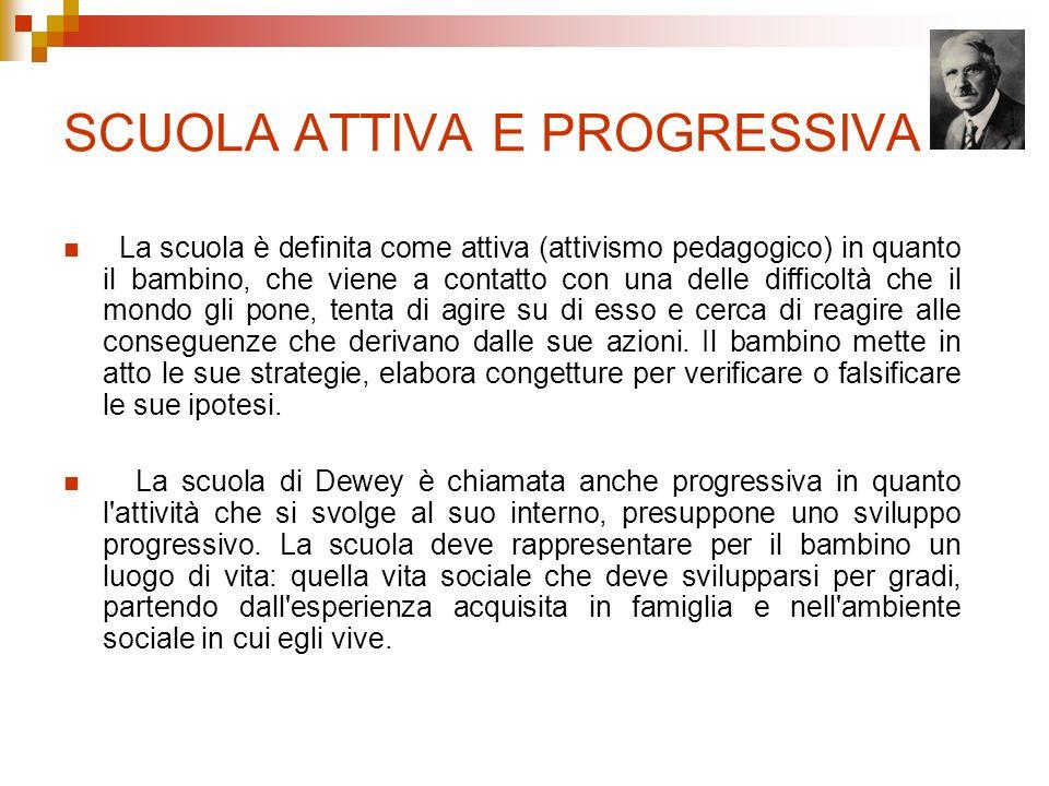 ETA EVOLUTIVA Anche Dewey come la maggior parte dei pedagogisti moderni divide l età evolutiva in tre fasi: 1.