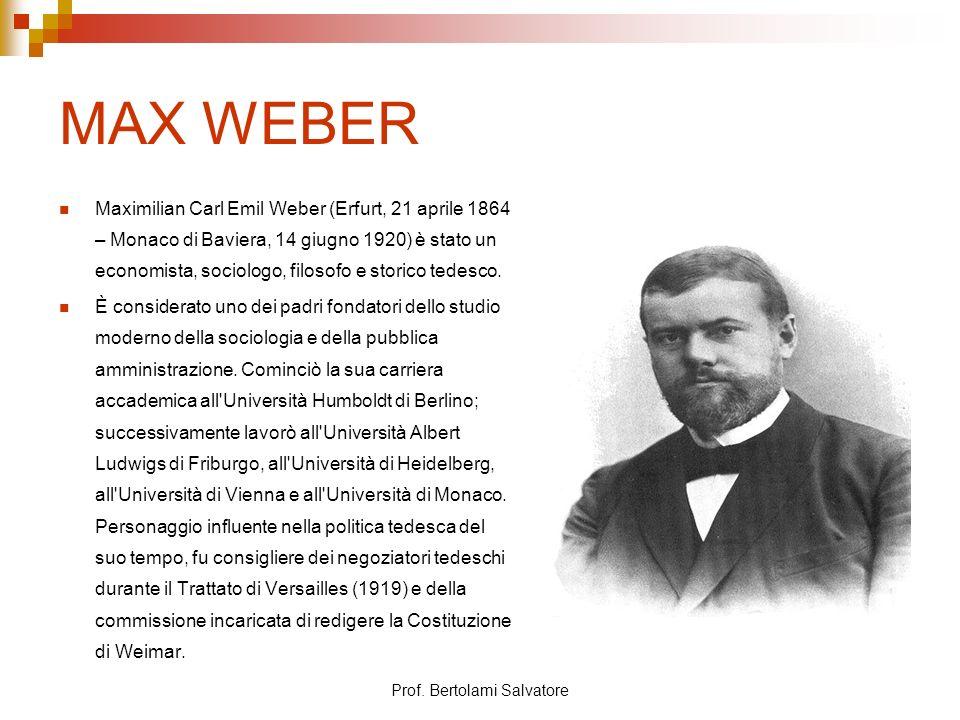 Prof.Bertolami Salvatore Max WEBER 2.
