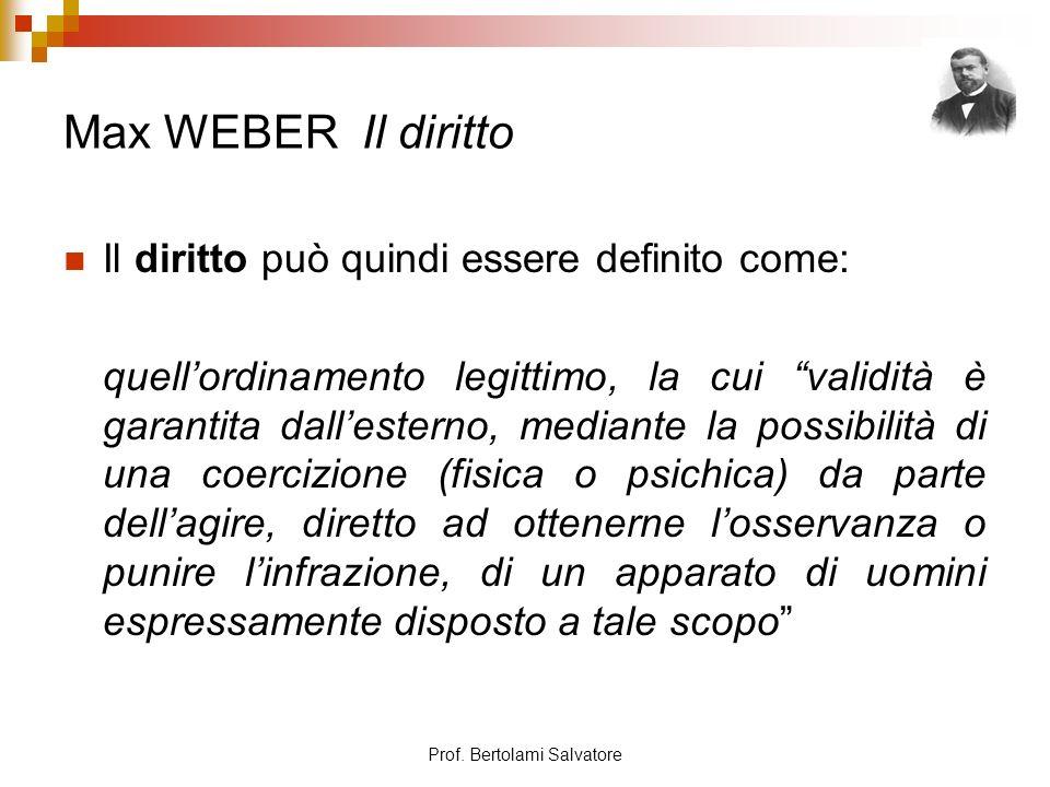 Prof.Bertolami Salvatore Max WEBER Diritto e capitalismo A.