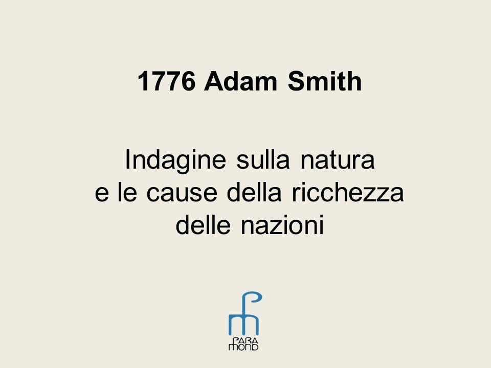 1776 Adam Smith Indagine sulla natura e le cause della ricchezza delle nazioni